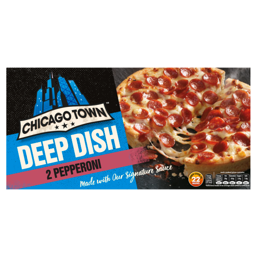 Chicago Town Deep Dish Pepperoni Pizzas 2 X 160g 320g